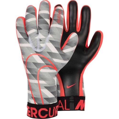 Nike GFX Mercurial Touch Victory Goalkeeper Gloves – White/Black/Laser Crimson