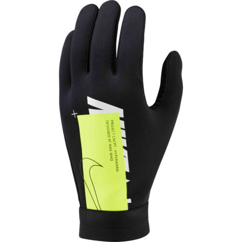 Nike Air Hyperwarm Academy Fieldplayer Gloves – Black/Volt