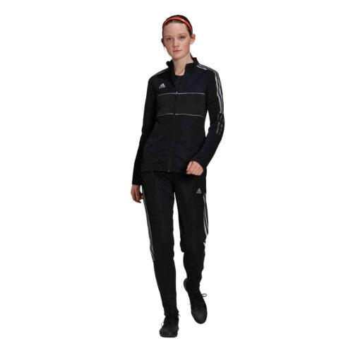 Womens adidas Tiro Reflective Track Pants – Black