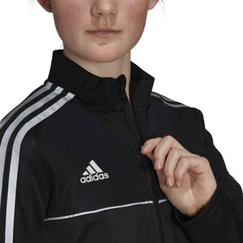 Womens adidas Tiro Reflective Track Jacket – Black