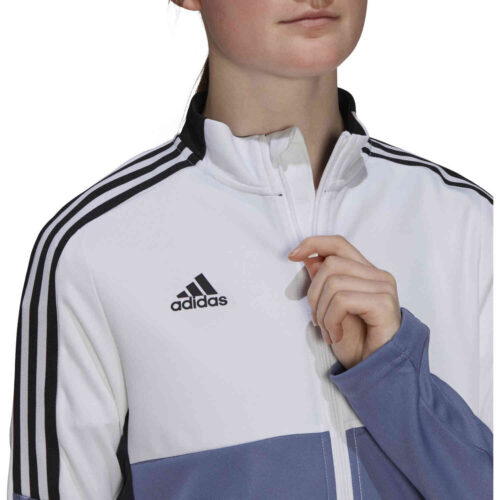 Womens adidas Tiro Track Jacket – White/Orbit Violet
