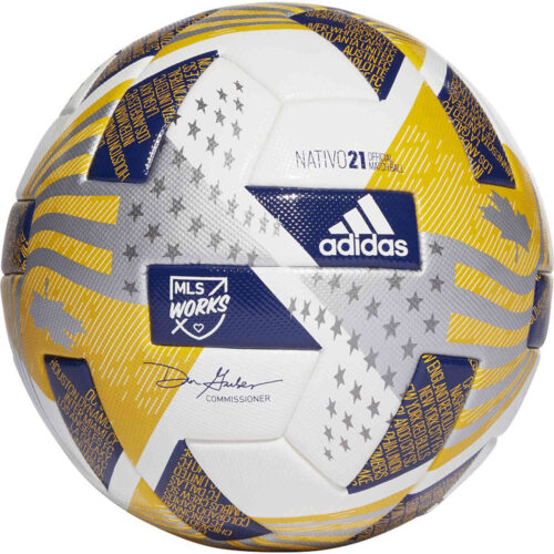 adidas CCA MLS Pro Official Match Soccer Ball – White & Iron Metallic with Silver Metallic