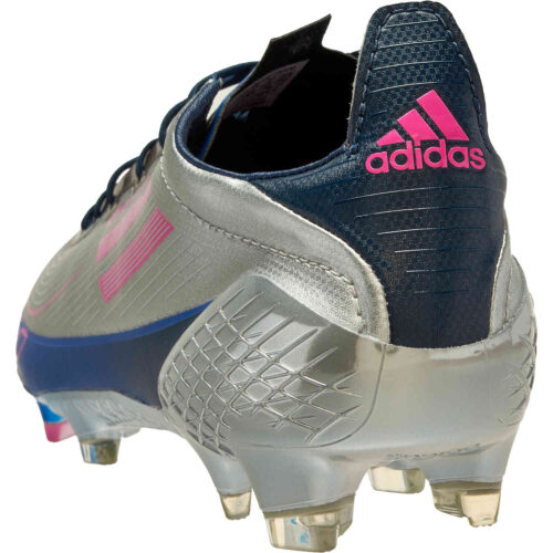 adidas F50 Ghosted UCL FG – Metallic Silver & Shock Pink with Navy