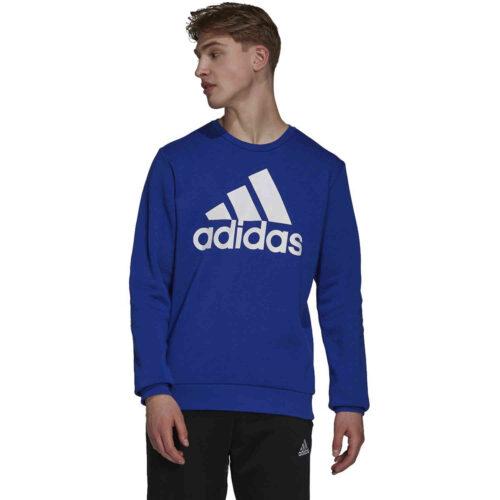 adidas Fleece Logo Sweatshirt – Bold Blue/White