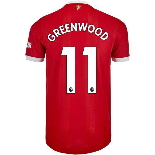 2021/22 adidas Mason Greenwood Manchester United Home Authentic Jersey