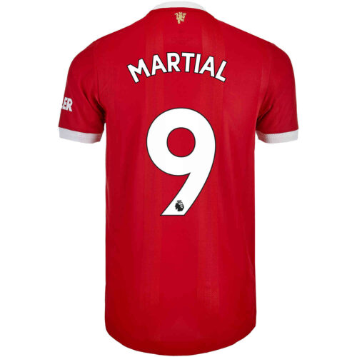 2021/22 adidas Anthony Martial Manchester United Home Authentic Jersey