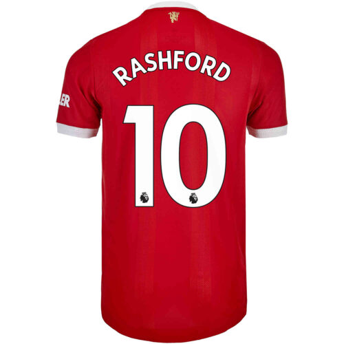 2021/22 adidas Marcus Rashford Manchester United Home Authentic Jersey