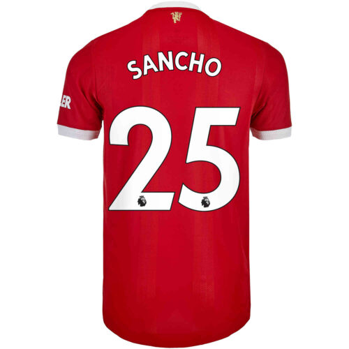 2021/22 adidas Jadon Sancho Manchester United Home Authentic Jersey