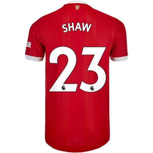 2021/22 adidas Luke Shaw Manchester United Home Authentic Jersey