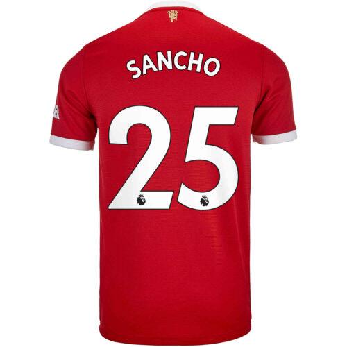 2021/22 adidas Jadon Sancho Manchester United Home Jersey