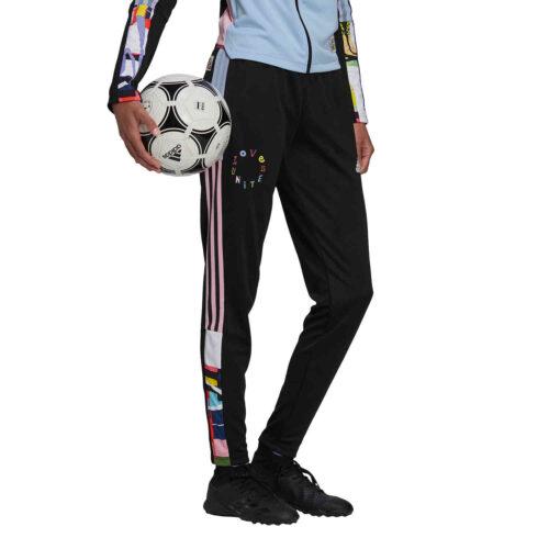Womens adidas Tiro Love United Track Pants – Black