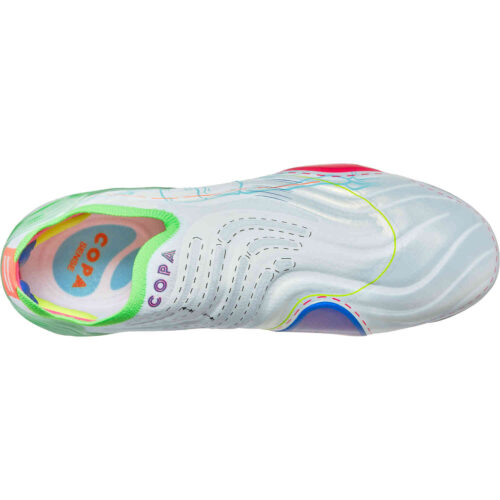 adidas Inside Out Copa Sense+ FG – White with Solar Yellow & Shock Pink