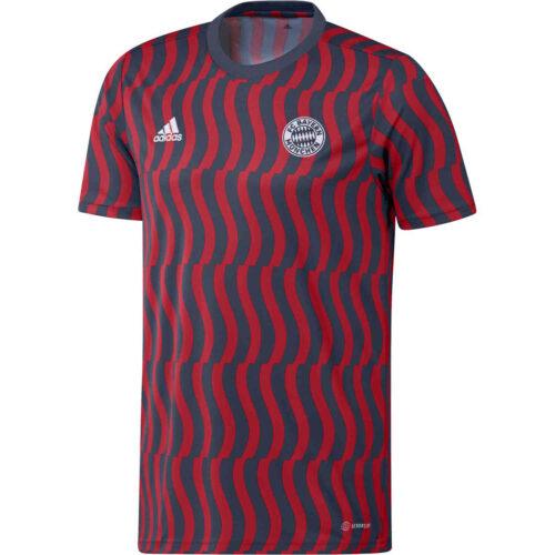 adidas Bayern Munich Pre-match Top – Crew Navy/Scarlet