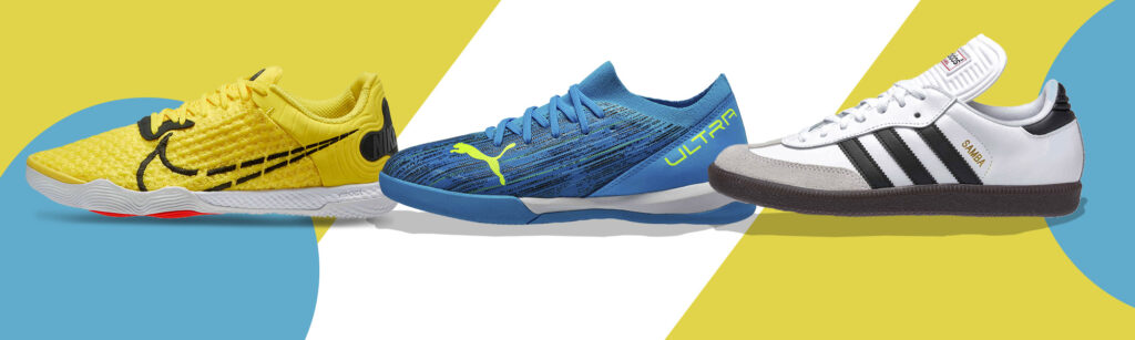 Indoor soccer and futsal shoes