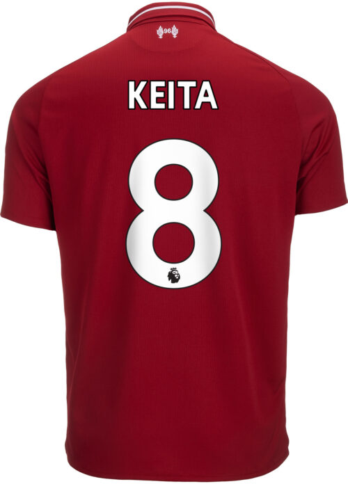 2018/19 Kids New Balance Naby Keita Liverpool Home Jersey
