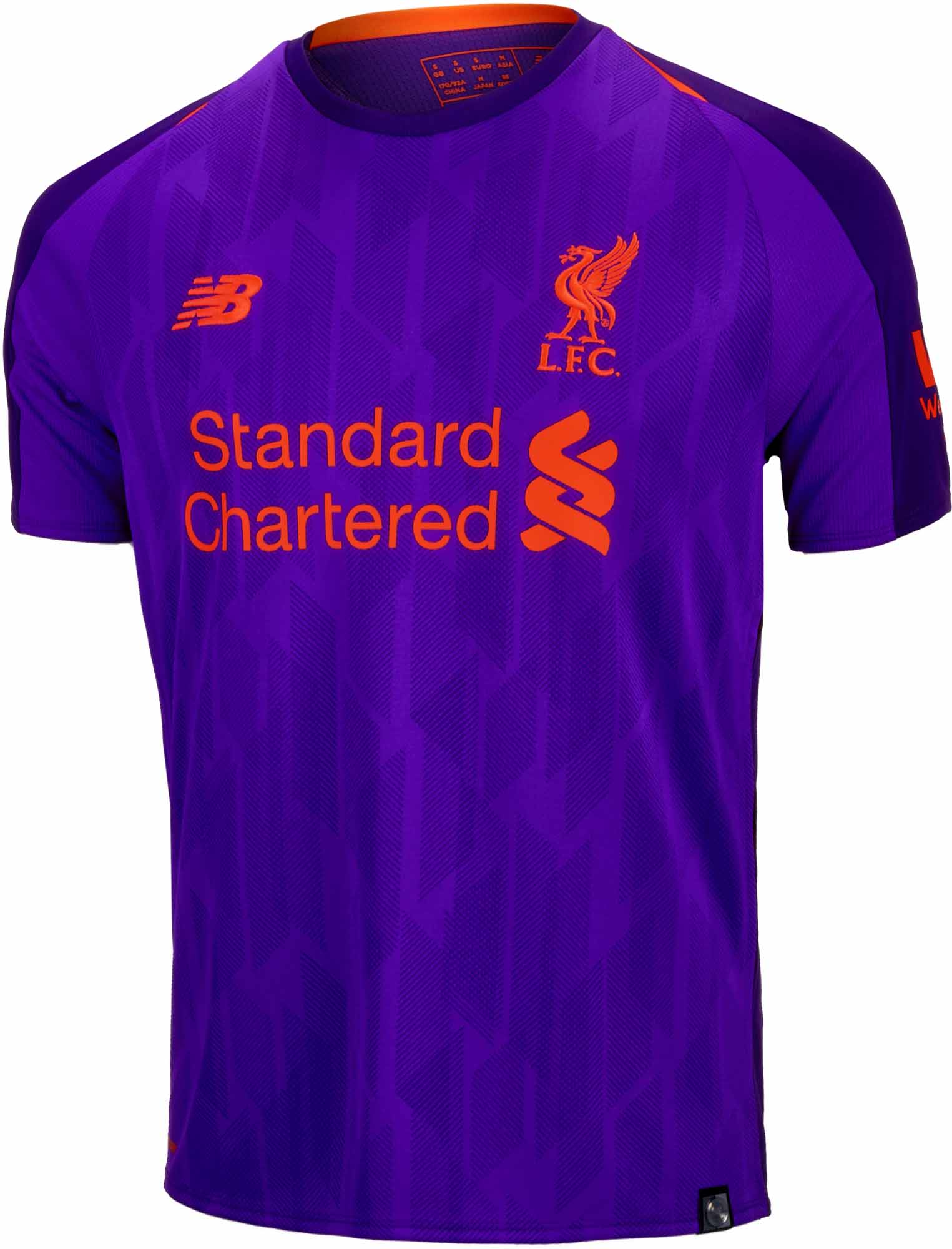 4917ad9333a43 2018/19 Kids New Balance Liverpool Away Jersey - SoccerPro
