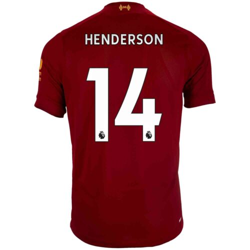 2019/20 Kids New Balance Jordan Henderson Liverpool Home Jersey