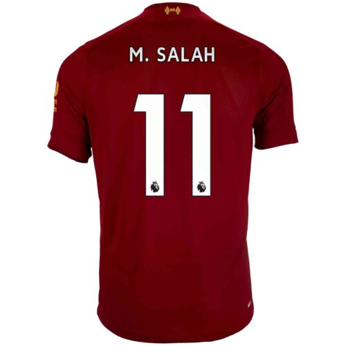 2019/20 Kids New Balance Mohamed Salah Liverpool Home Jersey