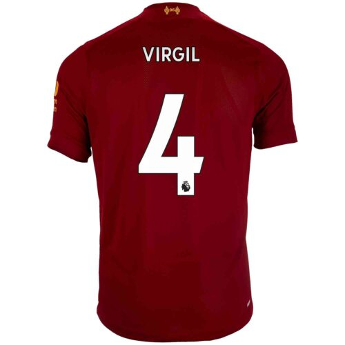 2019/20 Kids New Balance Virgil van Dijk Liverpool Home Jersey