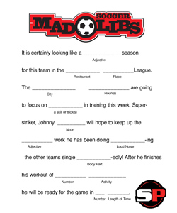 Mad Libs - Soccer