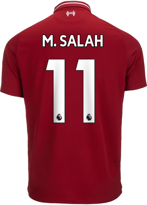 e8b3f51b9 2018 19 New Balance Mohamed Salah Liverpool Home Jersey - SoccerPro