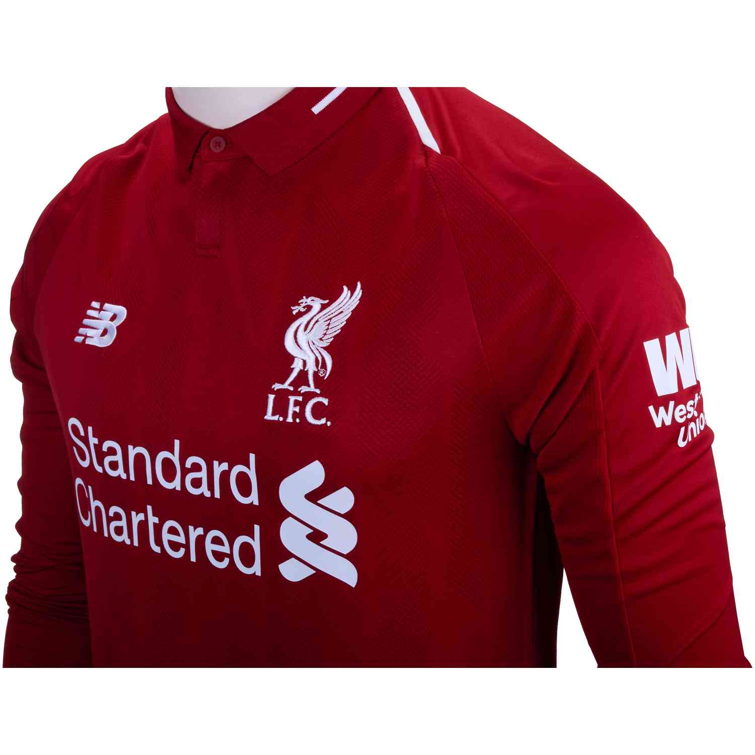 2018 19 New Balance Mohamed Salah Liverpool Home L S Jersey - SoccerPro f85130c28