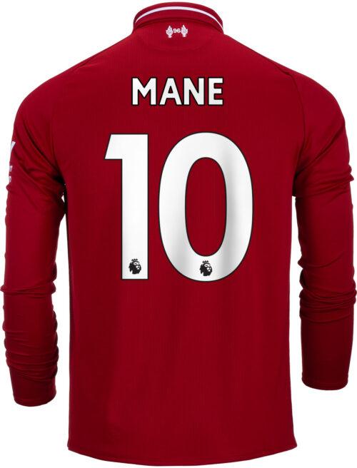 2018/19 New Balance Sadio Mane Liverpool Home L/S Jersey