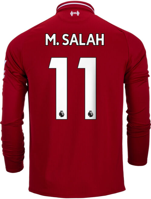 2018/19 New Balance Mohamed Salah Liverpool Home L/S Jersey