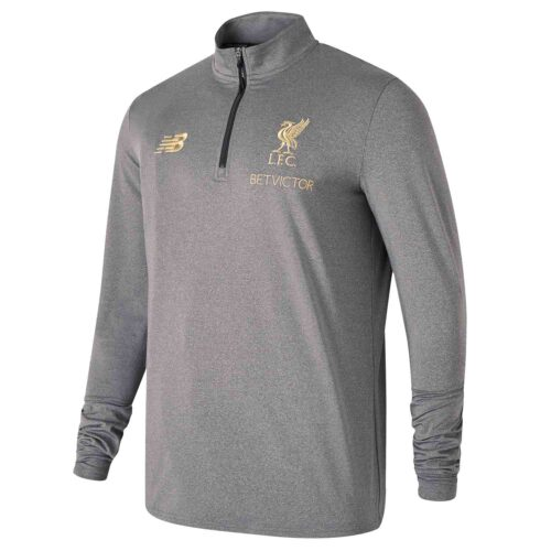 New Balance Liverpool Manager's Mid-Layer Top – Grey Marl