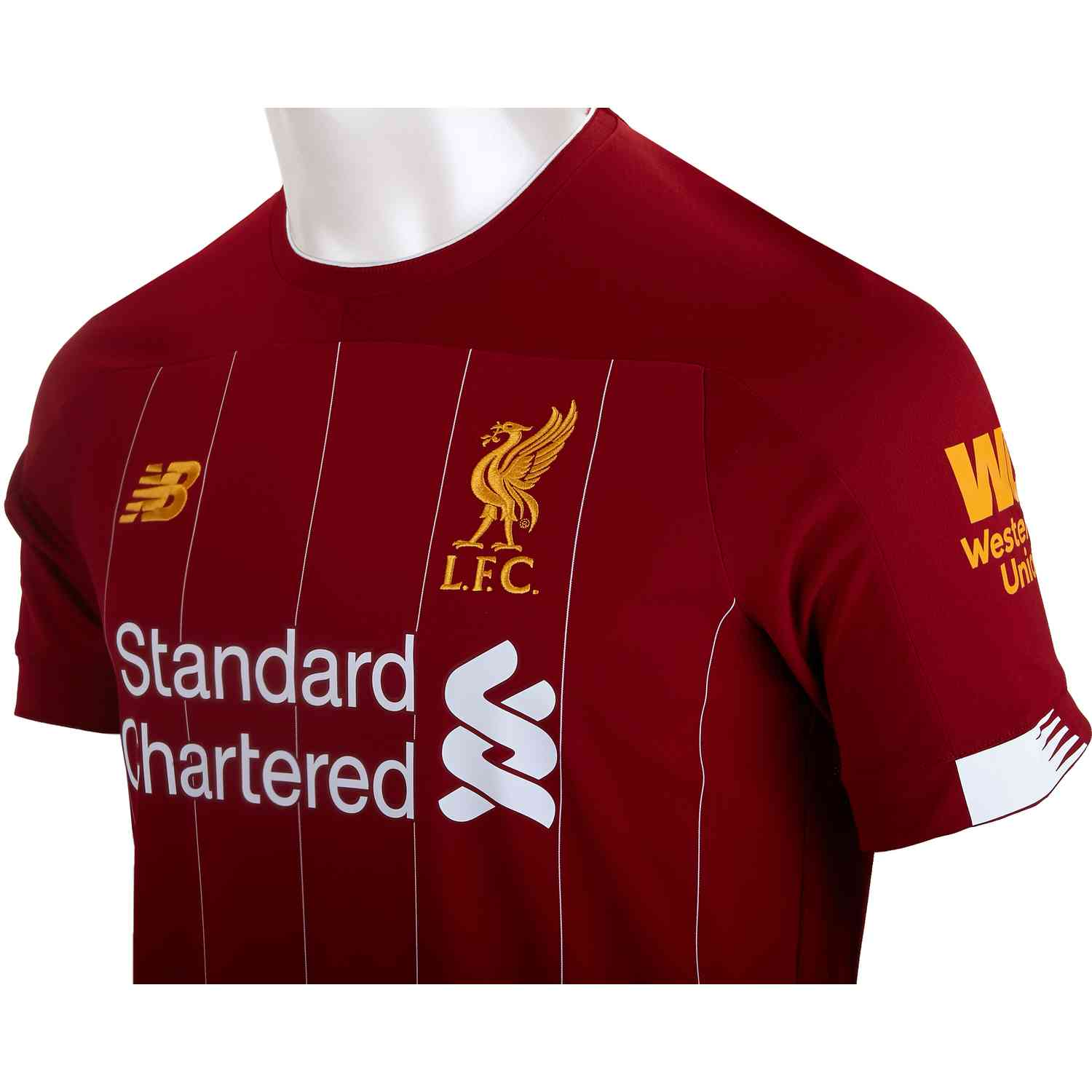 new product a62db 45d32 2019/20 New Balance Mohamed Salah Liverpool Home Jersey ...