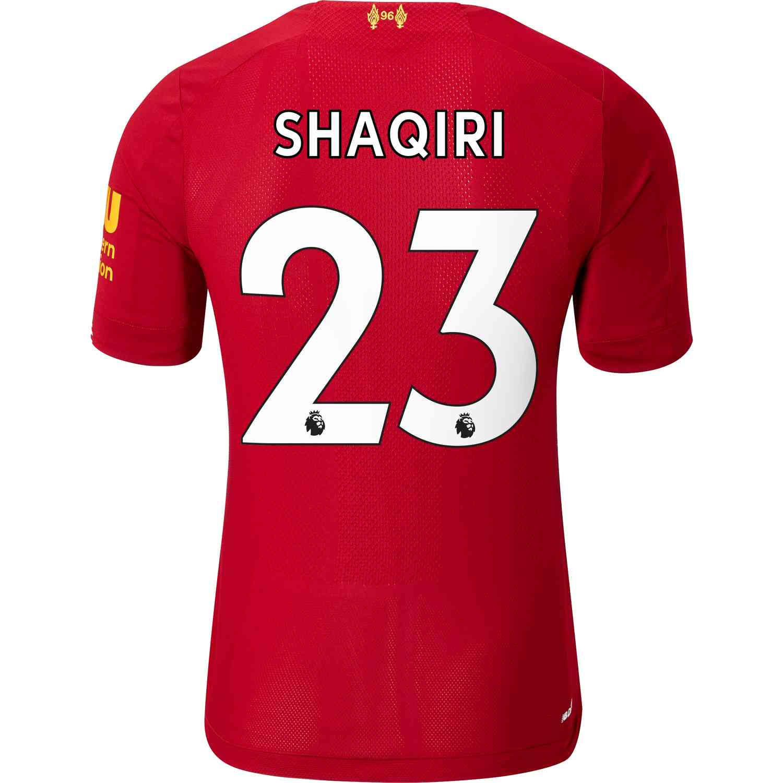 d22a2056f5d 2019 20 New Balance Xherdan Shaqiri Liverpool Home Elite Jersey ...
