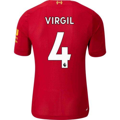 2019/20 New Balance Virgil van Dijk Liverpool Home Elite Jersey