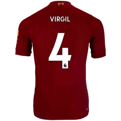 2019/20 New Balance Virgil van Dijk Liverpool Home Elite Jersey