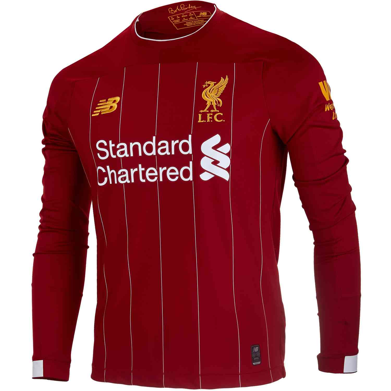 best website af10d 5b20f 2019/20 New Balance Liverpool L/S Home Jersey - SoccerPro
