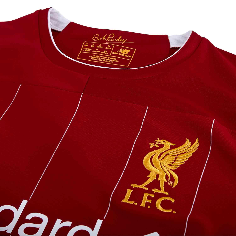 buy online f6e0f 9211e 2019/20 New Balance Mohamed Salah Liverpool Home L/S Jersey ...