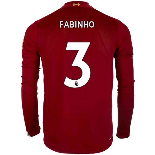 2019/20 New Balance Fabinho Liverpool Home L/S Jersey