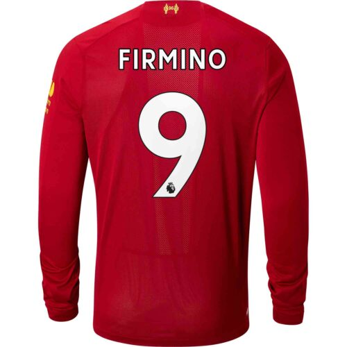 d4a31cd2601 2019 20 New Balance Roberto Firmino Liverpool Home L S Jersey