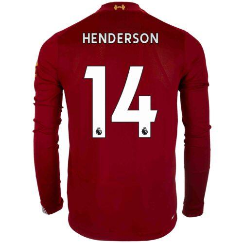 2019/20 New Balance Jordan Henderson Liverpool Home L/S Jersey