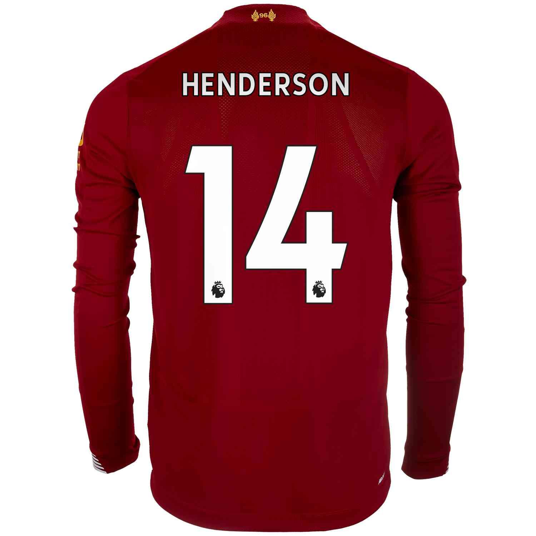 2019/20 New Balance Jordan Henderson Liverpool Home L/S Jersey ...