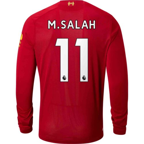 6edc33d8c36 2019 20 New Balance Mohamed Salah Liverpool Home L S Jersey