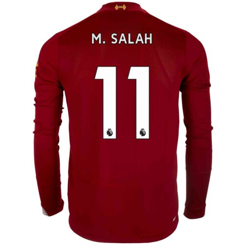 2019/20 New Balance Mohamed Salah Liverpool Home L/S Jersey