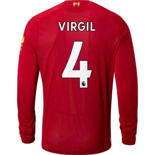 c45d2b8ca09 2019 20 New Balance Virgil van Dijk Liverpool Home L S Jersey