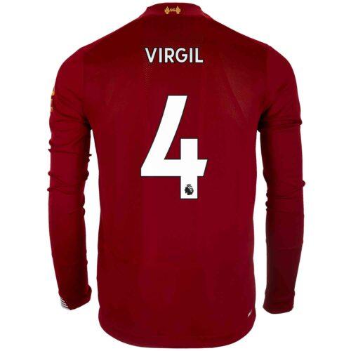 2019/20 New Balance Virgil van Dijk Liverpool Home L/S Jersey