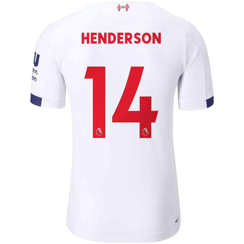 2019/20 New Balance Jordan Henderson Liverpool Away Elite ...