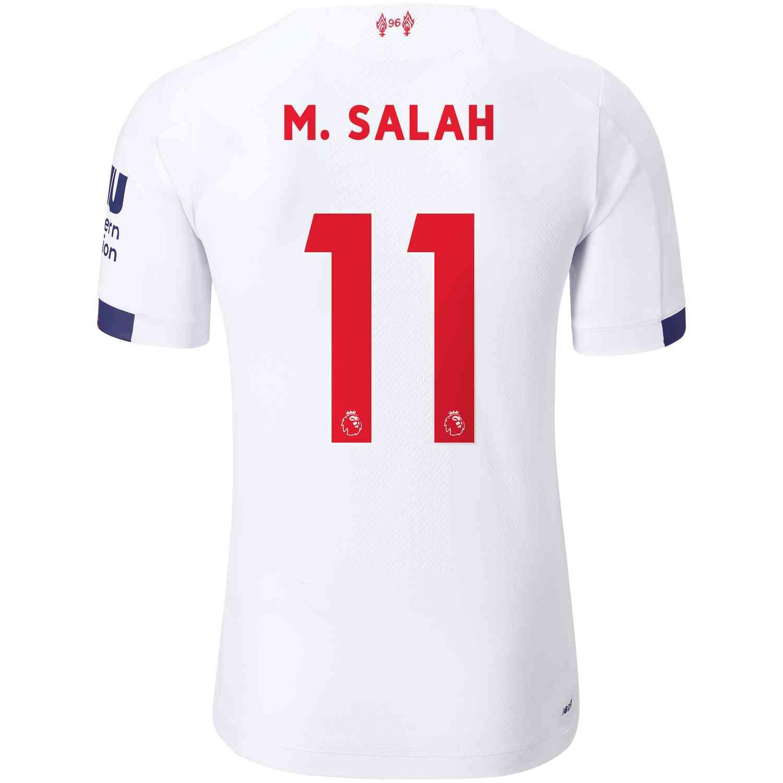 2019/20 New Balance Mohamed Salah Liverpool Away Elite ...