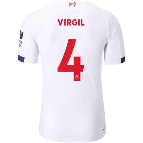 2019/20 New Balance Virgil van Dijk Liverpool Away Elite Jersey