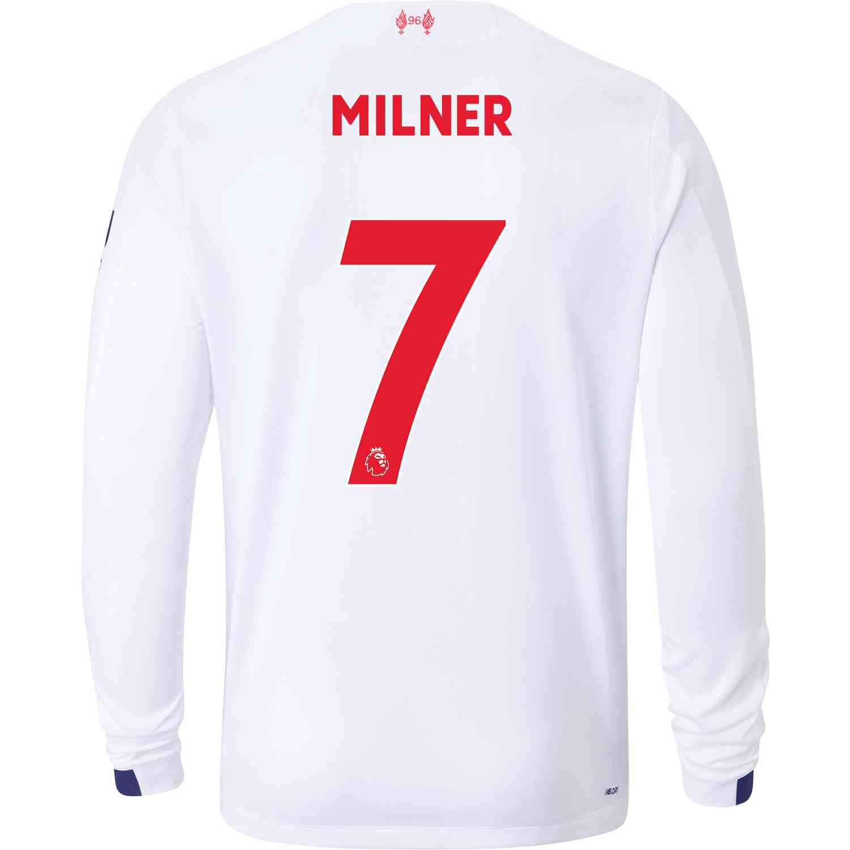 2019/20 New Balance James Milner Liverpool Away L/S Jersey - SoccerPro