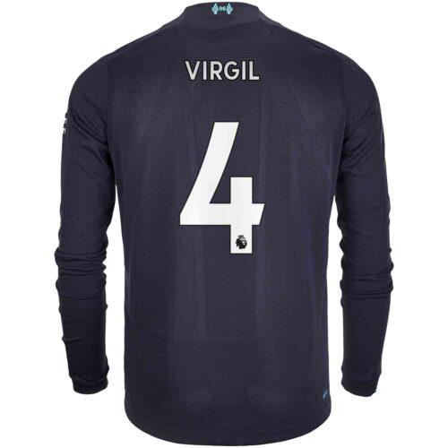 2019/20 New Balance Virgil van Dijk Liverpool 3rd L/S Jersey