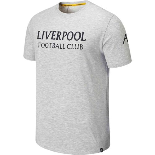 New Balance Liverpool Travel Graphic Tee – Grey Marl