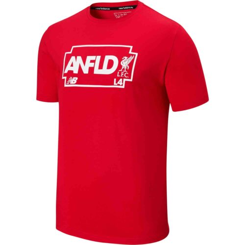 New Balance Liverpool Road Sign Tee – Red